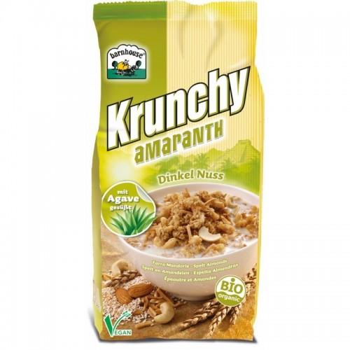 crunchy amaranto espelta frutos secos barnhouse 375 gr
