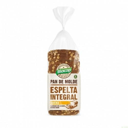 pan molde espelta avena integral biocop 400 gr bio