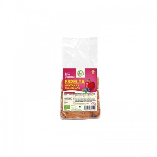 galletas espelta manzana arandanos sol natural 175 gr