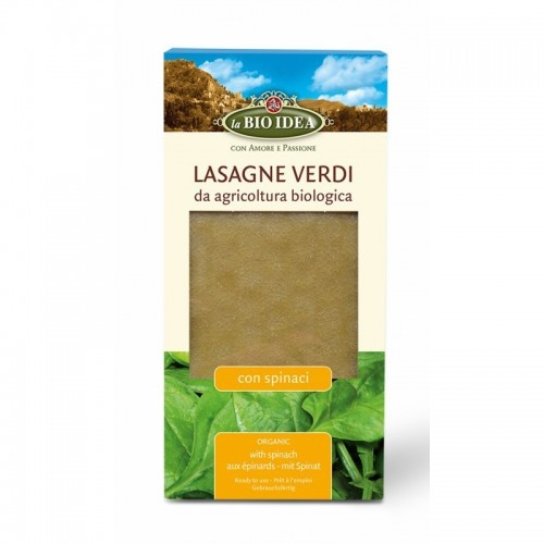 lasaña verde bioidea 250 gr bio