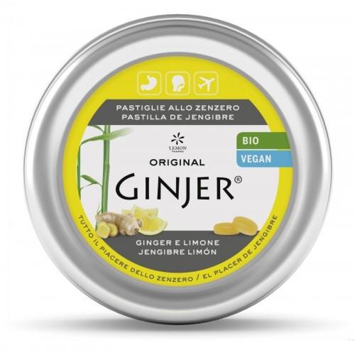 ginger pastillas lata sabor limon lemon pharma 40 gr