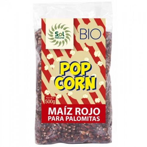 maiz palomitas rojo sol natural 500 gr bio