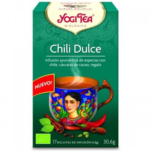 yogi tea infusion chili dulce 17 bolsas bio