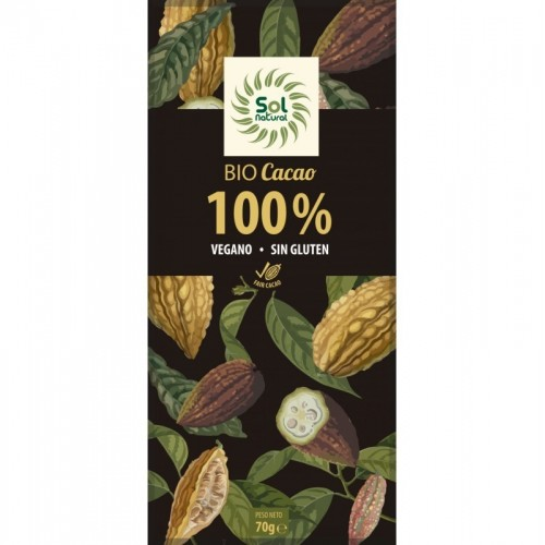 chocolate 100 sol natural 70 gr bio