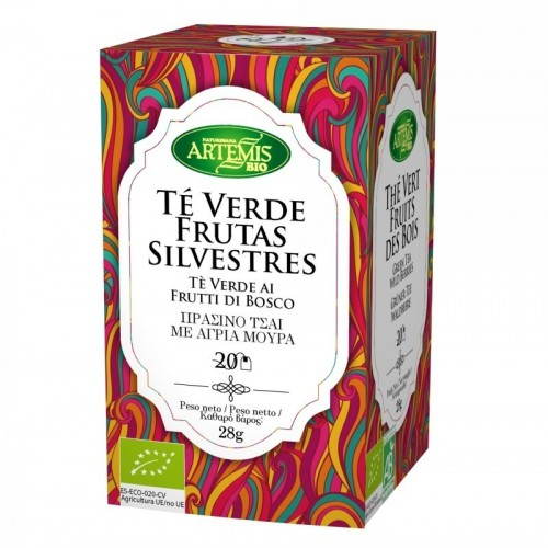 infusion te verde frutas silvestres 20 filtros artemis 30 gr