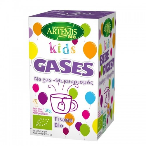 tisana kids gases niños 20 filtros artemis bio