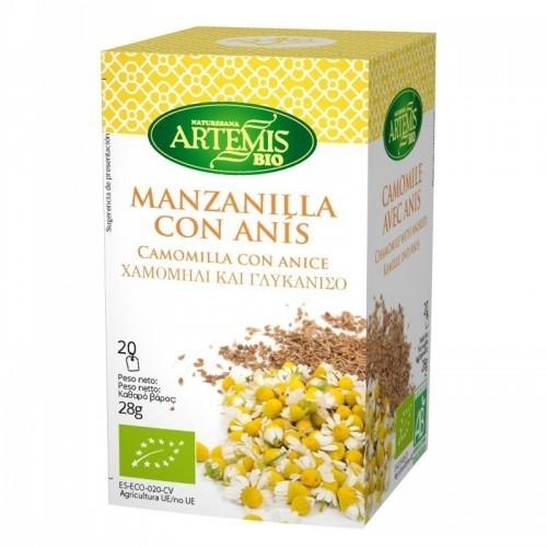 infusion manzanilla anis 20 filtros artemis 30 gr