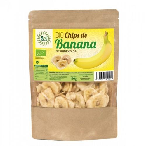 chips banana sol natural 150 gr bio