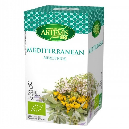infusion mediterranea 20 filtros artemis 30 gr
