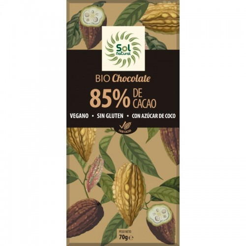 chocolate 85 sol natural 70 gr bio