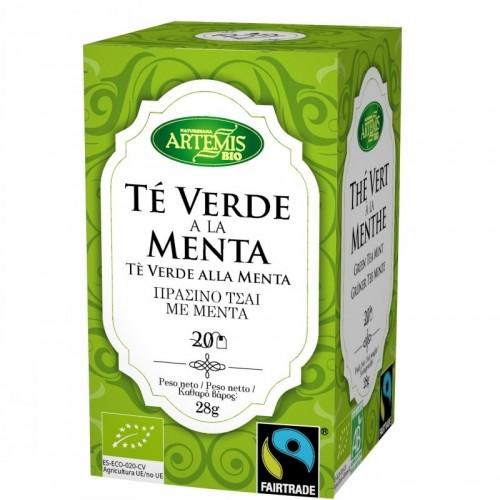 infusion te verde menta 20 filtros artemis 30 gr