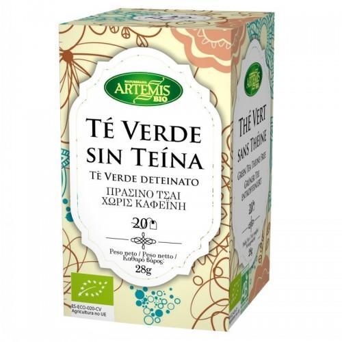 infusion te verde sin teina 20 filtros artemis 30 gr