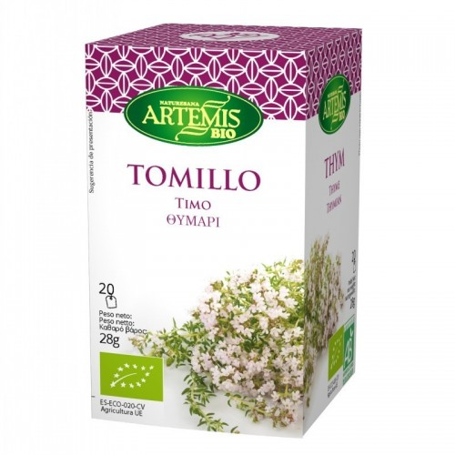 infusion tomillo 20 filtros artemis 30 gr