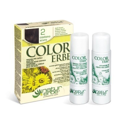 tinte castaño oscuro nº 2 color erbe