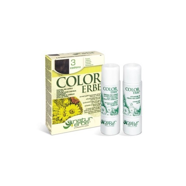 tinte castaño nº 3 color erbe
