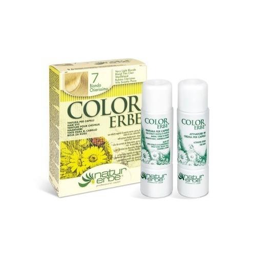 tinte rubio claro nº 7 color erbe