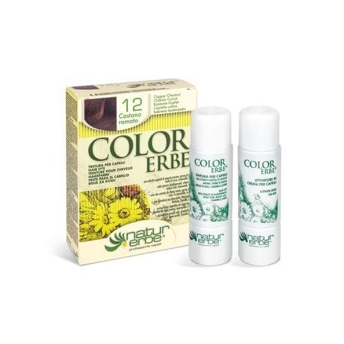 tinte castaño cobrizo nº 12 color erbe