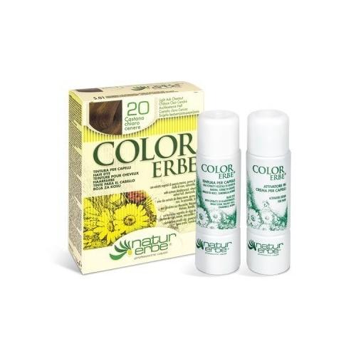 tinte castaño claro ceniza nº 20 color erbe