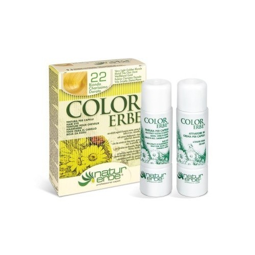 tinte rubio clarisimo dorado nº 22 color erbe
