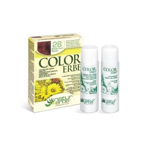 tinte rubio oscuro cobre nº 28 color erbe
