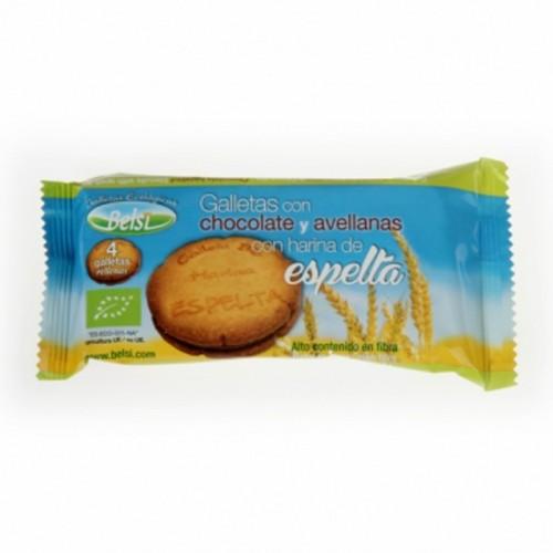 galleta espelta rellena chocolate avellana belsi 70 gr