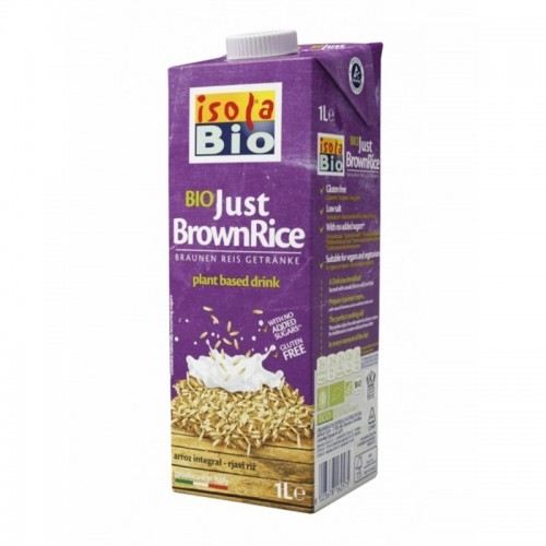 bebida arroz integral isola bio 1 l