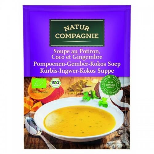 sopa calabaza jengibre y coco natur compagne 40 gr bio