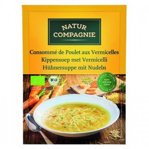 sopa pollo con fideos natur compagne 40 gr bio