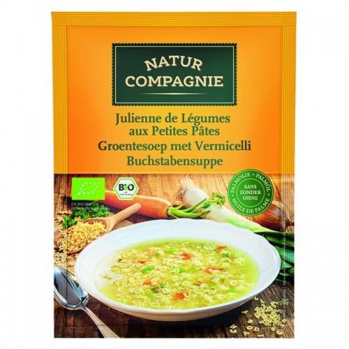 sopa verduras con pasta natur compagne 50 gr bio