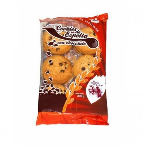 cookies espelta choco ecologico sin palma horno de leña 300 gr bio