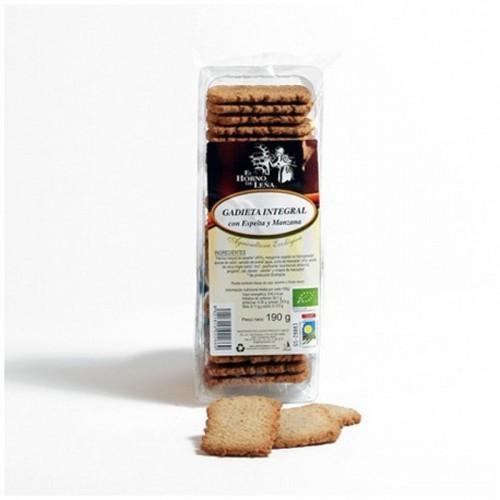 galletas integral espelta manzana horno de leña 190 gr bio