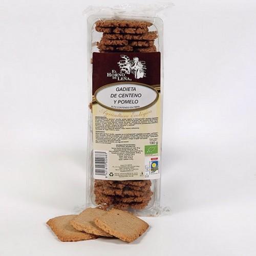 galletas centeno pomelo horno de leña 190 gr bio