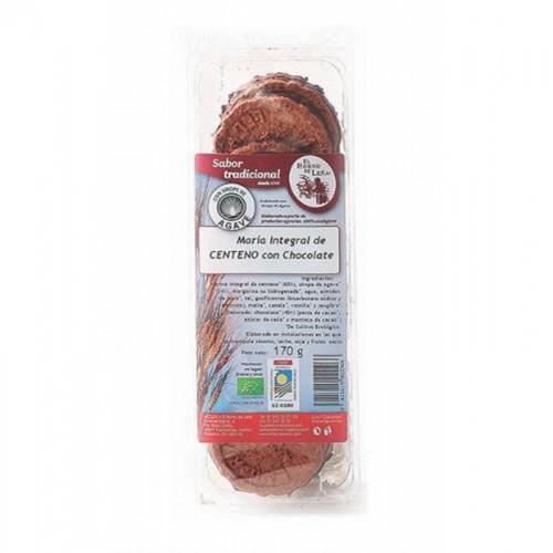 galletas maria integral centeno agave choco horno de leña 170 gr bio