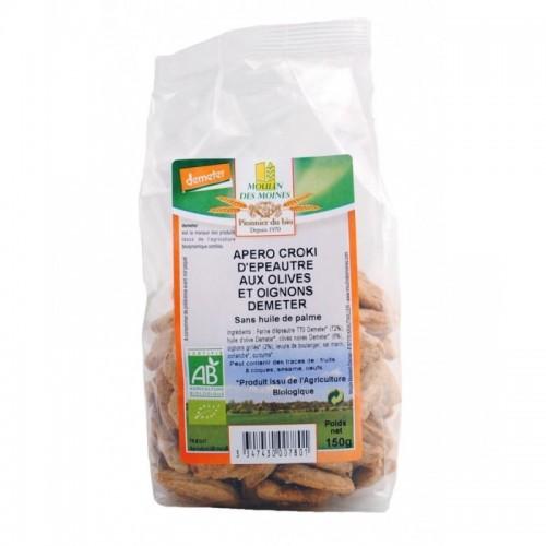 snacks espelta a las olivas y cebolla moulins des moines 150 gr bio