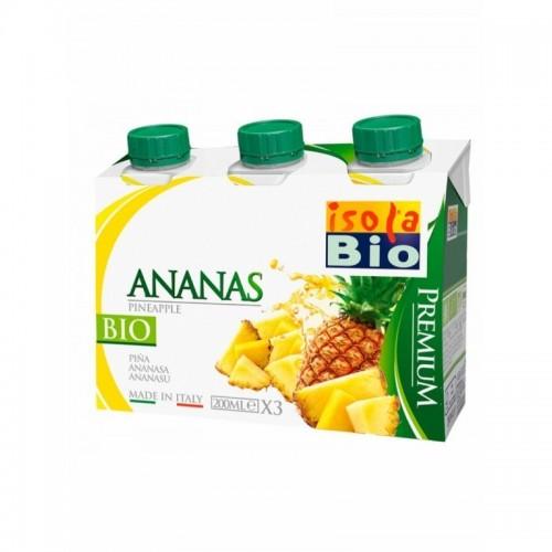 zumo piña premium isola bio 3x200 ml