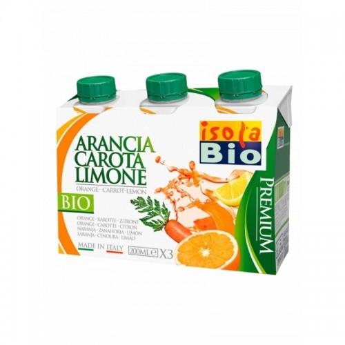 zumo naranja zanahoria limon isola bio 200x3 ml