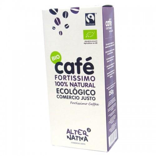 cafe fortissimo molido alternativa 3 250 gr bio