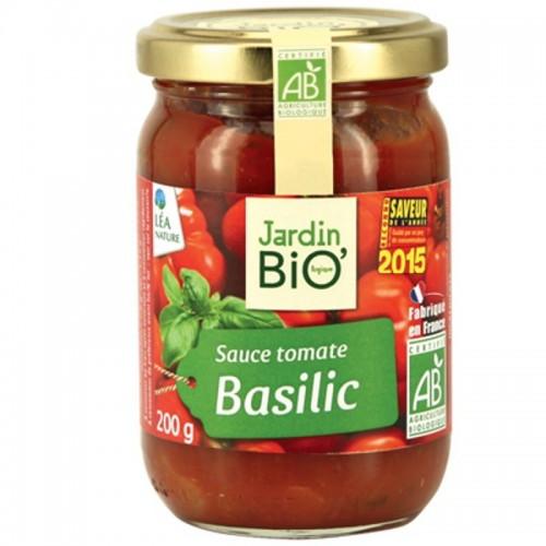 salsa tomate con albahaca jardin bio 200 gr
