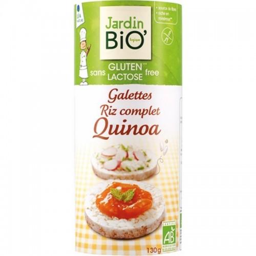 tortitas arroz integral y quinoa sin gluten jardin bio 130 gr