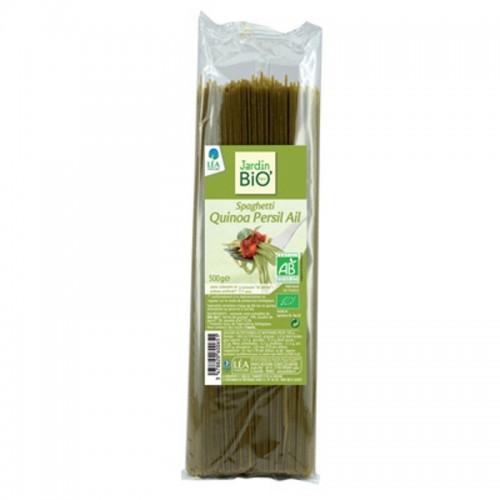 espagueti quinoa con ajo y perejil jardin bio 500 gr