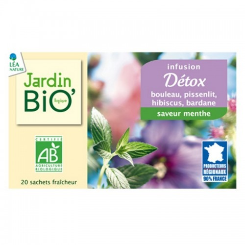 infusion detox jardin bio 30 gr