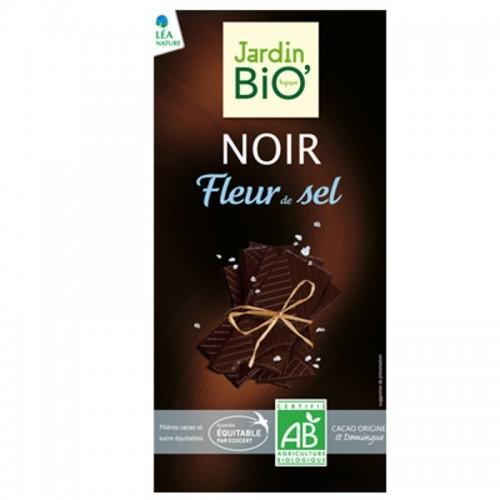 chocolate negro flor de sal jardin bio 100 gr