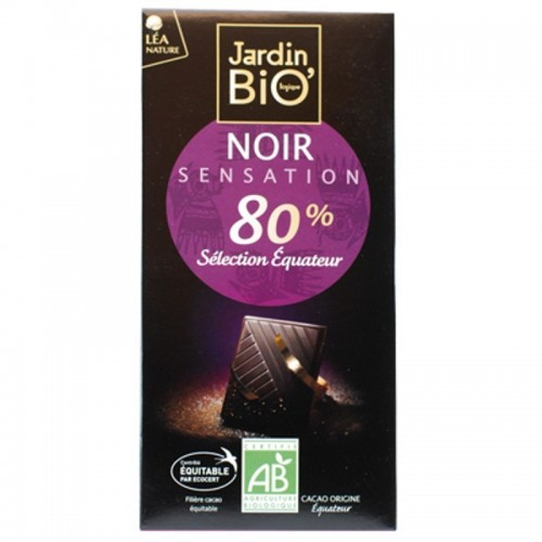 chocolate 80 cacao seleccion ecuador jardin bio 100 gr