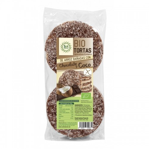 tortas arroz chocolate coco 6 ud sol natural bio 100 gr bio