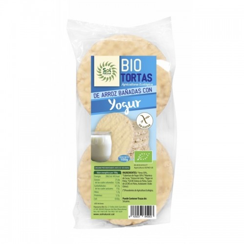 tortas arroz yogur natural 6 ud sol natural100 gr bio