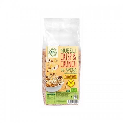 muesli crisp crunch sin gluten sol natural 425 gr bio