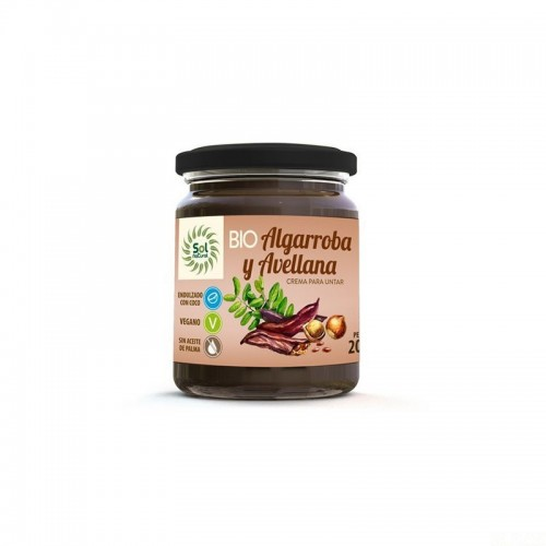 crema algarroba avellanas sol natural 200 gr bio