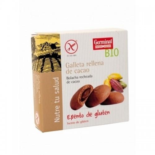 galletas rellenas cacao sin gluten germinal 200 gr bio