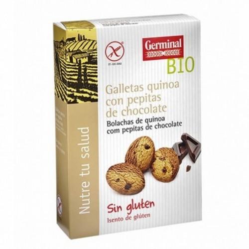 galletas quinoa cacao gotas choco germinal 250 gr bio