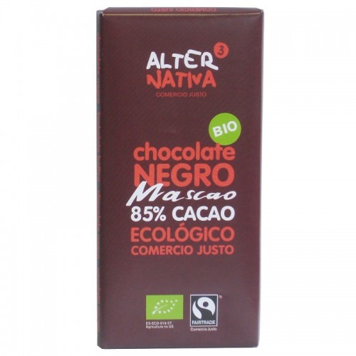 chocolate 85 cacao mascao alternativa 3 80 gr bio